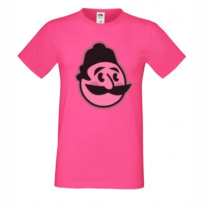 тениска art haha.bg розова с лого с розов оттенък